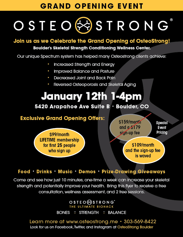 Osteostrong Grand Opening Flyer