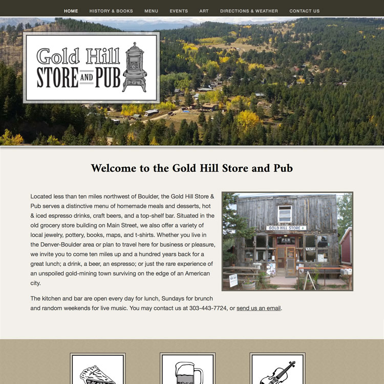 Gold Hill Store wordpress development