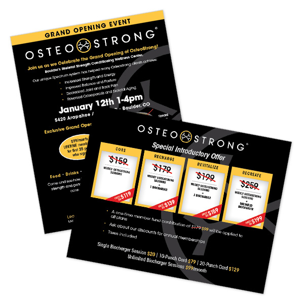 Osteostrong Boulder Marketing Collateral